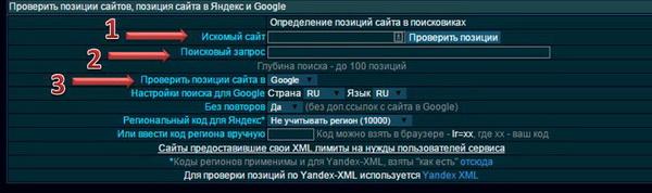 Позиции сайта в поисковиках