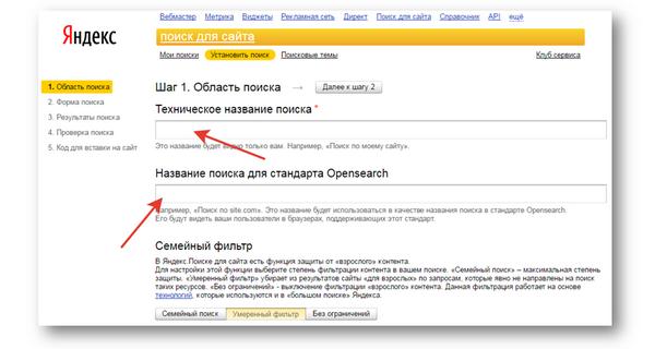 Поиск от Яндекс для сайта и блога - 2