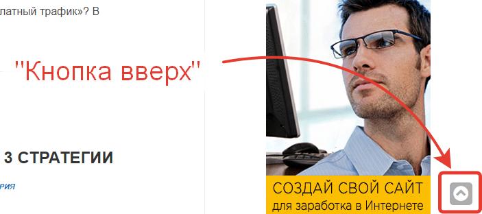 Кнопка вверх для сайта на wordpress пример на моем блоге