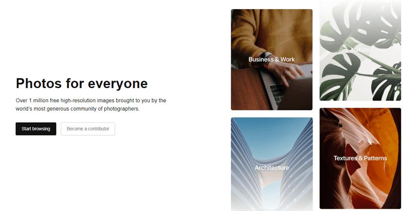 Бесплатные картинки для сайта с сервиса Unsplash